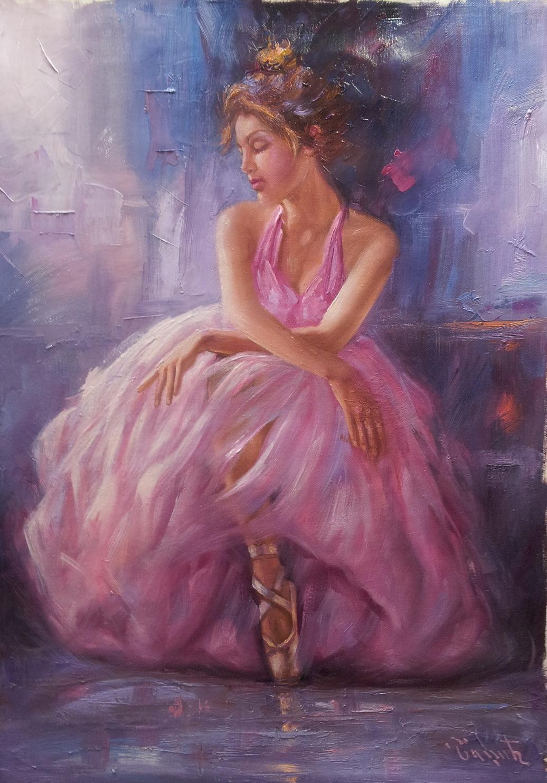 umetnicka slika balerina