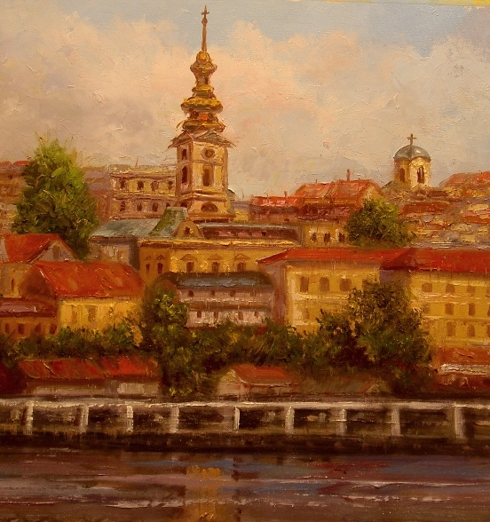 Stari Beograd Pogled sa Usca Slika