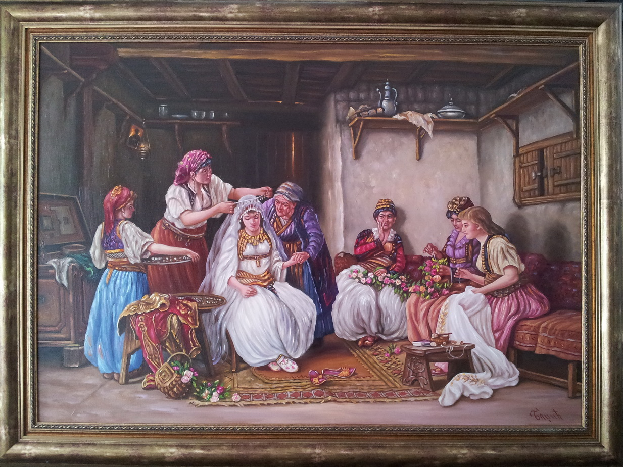Umetnicka slika  Kicenje neveste