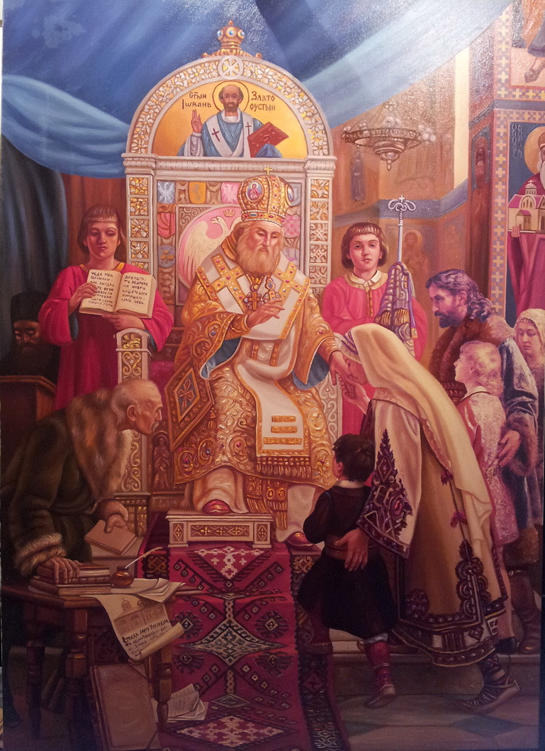 Sveti Sava blagosilja srpcad