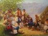 Guslar umetnicka slika ulje na platnu