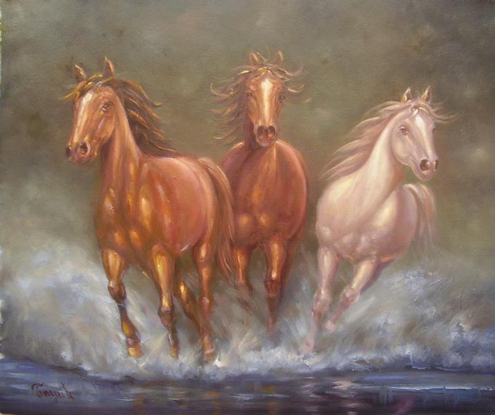 konji umetnicka slika