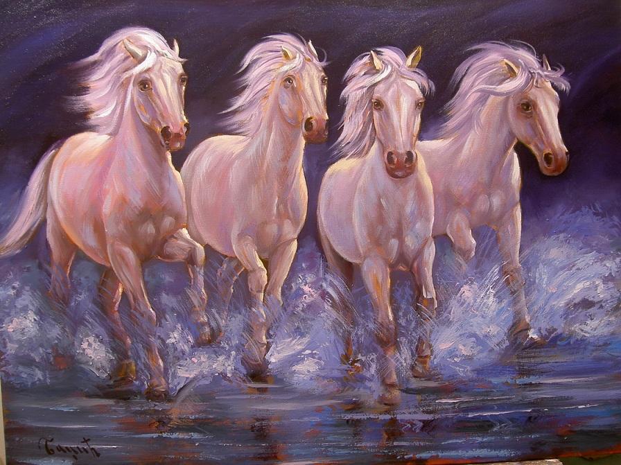 umetnicka slika konja